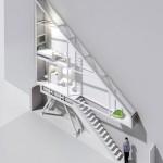 Plan 3D de la maison la plus fine du monde Keret House