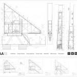 Plan de la maison la plus étroite du monde Keret House