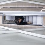 Keret House : trappe d'accès entre 2 étages de la maison la plus étroite du monde