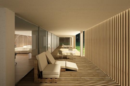 Terrasse de la maison contemporaine Quinta Patino II