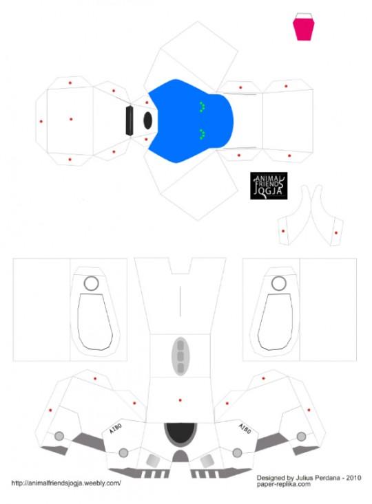 Paper toy : plan à plier du robot Aibo