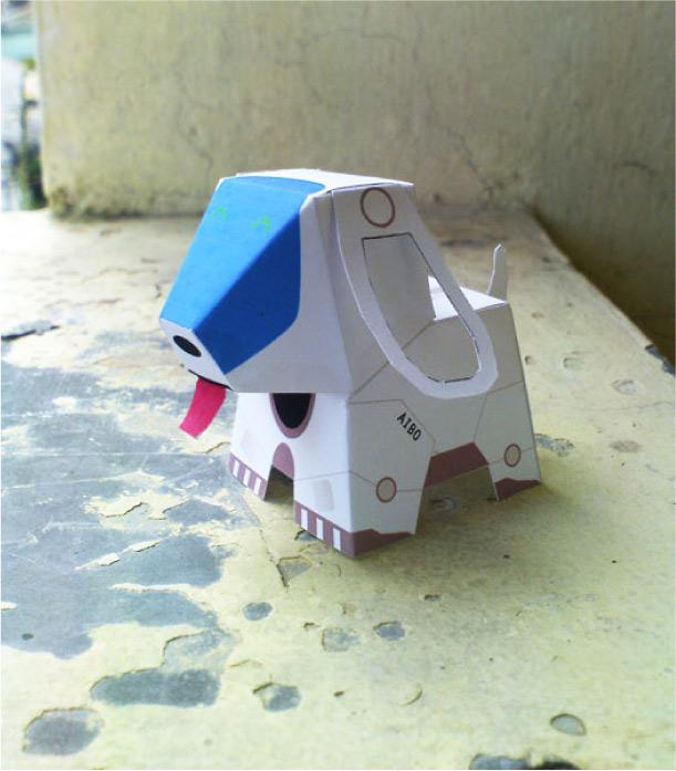 Paper toy du robot chien Aibo de Sony