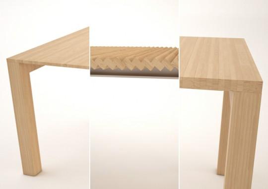 Table avec plateau extensible sans rallonge