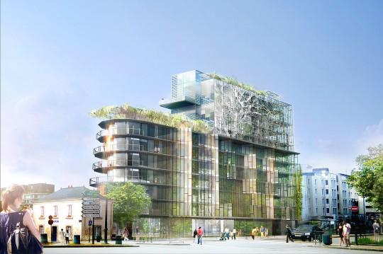 Cap Mail à Rennes - Résidence moderne tout en verre