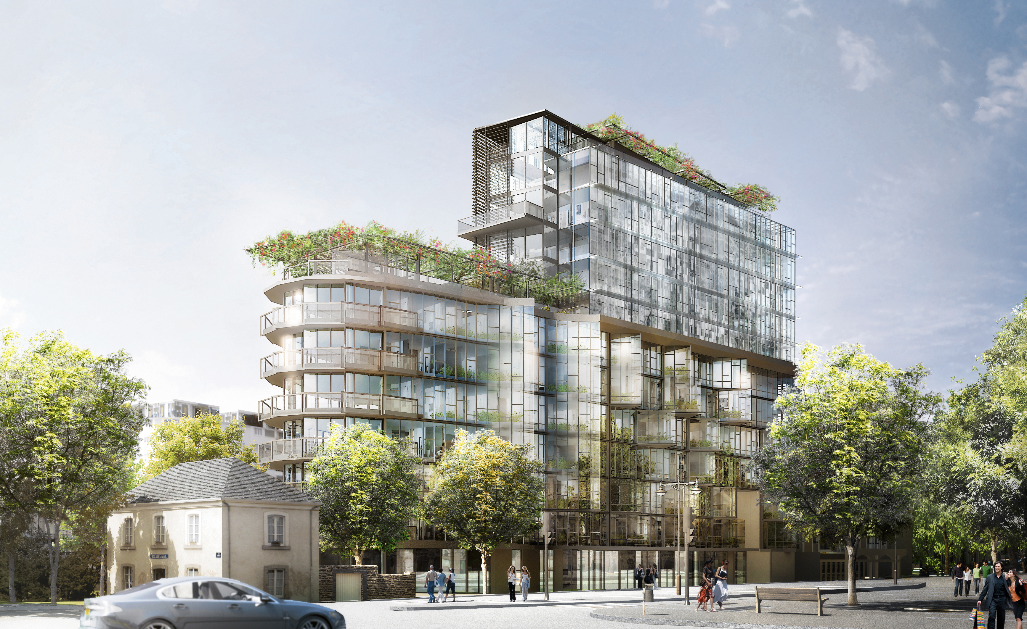 Cap mail une r sidence de luxe rennes sign e jean nouvel - Residence luxe hughes umbanhowar architects ...