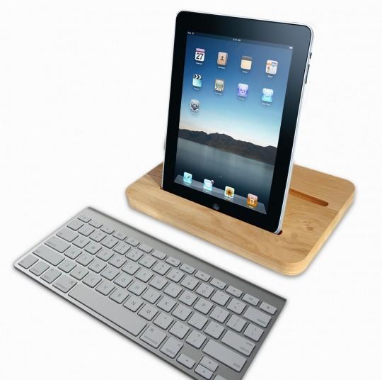 Dock en bois pour tablette tactile