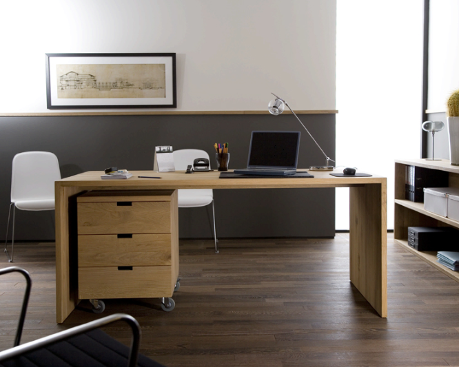 bureau bois massif contemporain. Black Bedroom Furniture Sets. Home Design Ideas