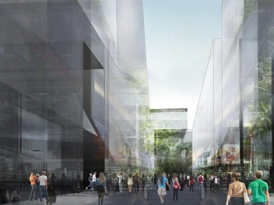 Projet n°1 pour l'Ile Seguin : La rue commerçante