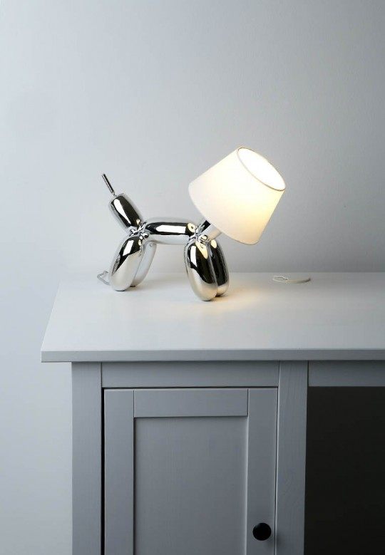 Lampe Doggy argent
