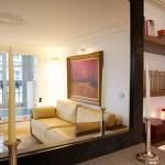 Appartement Le Yacht (Paris) : Canapé en cuir