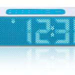 Radio réveil blanc avec éclairage bleu Lexon Titanium LA84