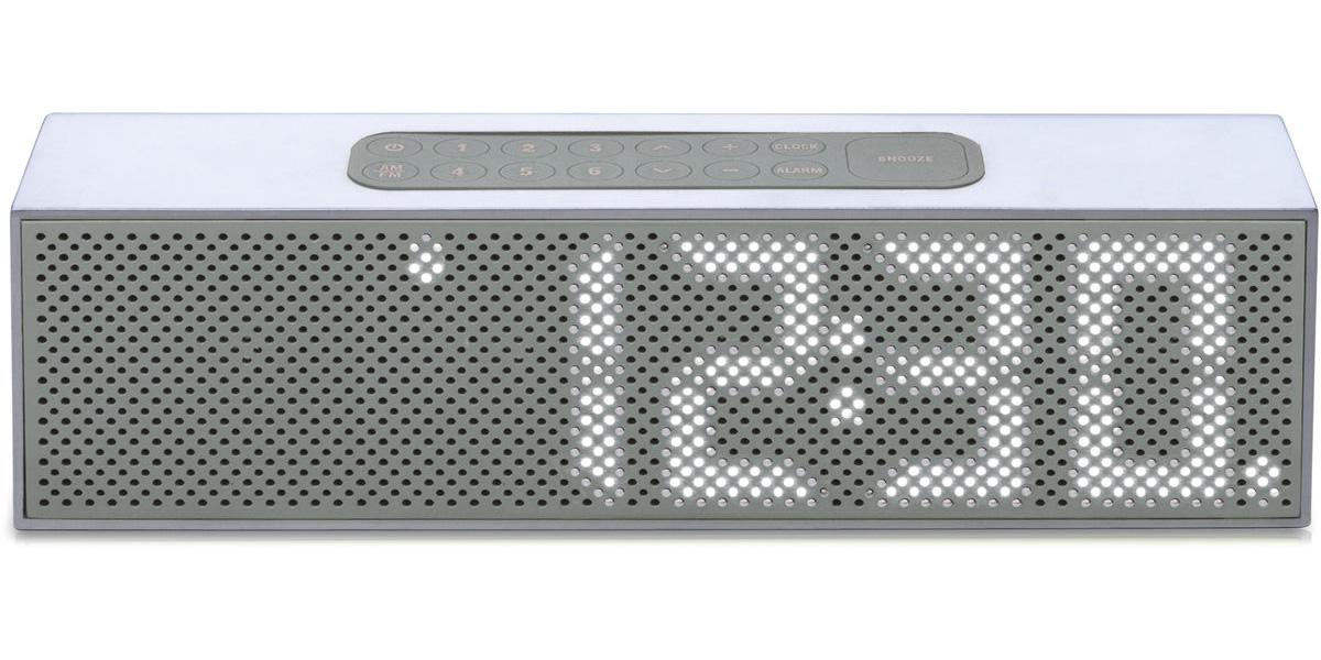 Radio réveil Lexon Titanium blacn avec éclairage gris