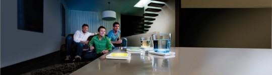 Dessous de verre lumineux en couleur Philips Lumiware