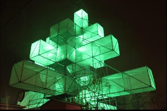 Sapin de Noël design vert par 1024 architecture