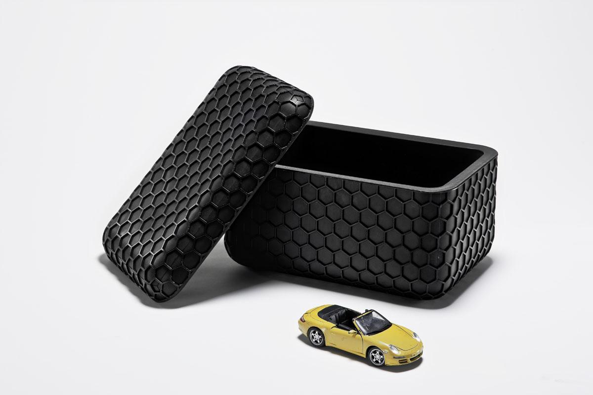 Sugar cubes : boite de rangement design noire