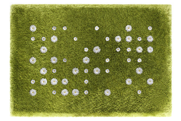 tapis pelouse fleurs daisy garden. Black Bedroom Furniture Sets. Home Design Ideas