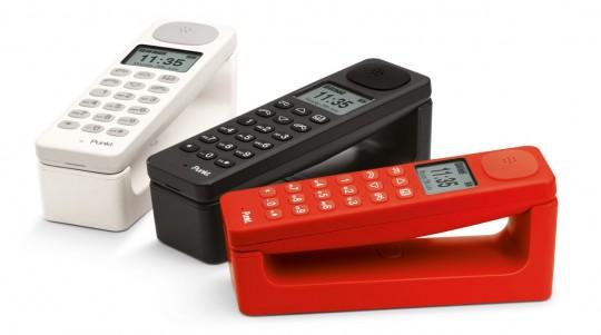 Téléphones sans fil Punkt blanc, rouge et noir