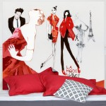 Tissu décoratif mural sans fixation La mode à Paris