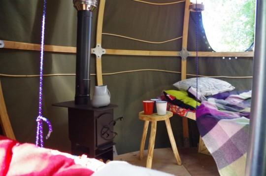 Intérieur de la tente sphérique Tree Tent by Luminair