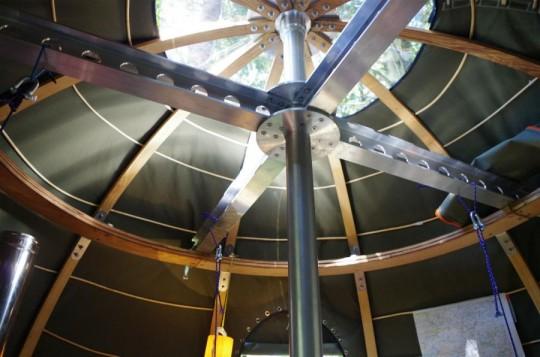 Tree Tent by Luminair : structure intérieure de la tente