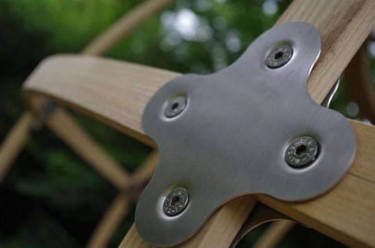 Tree Tent by Luminair : structure en métal et bois
