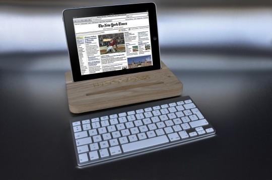 Woodock, dock iPad en chêne clair