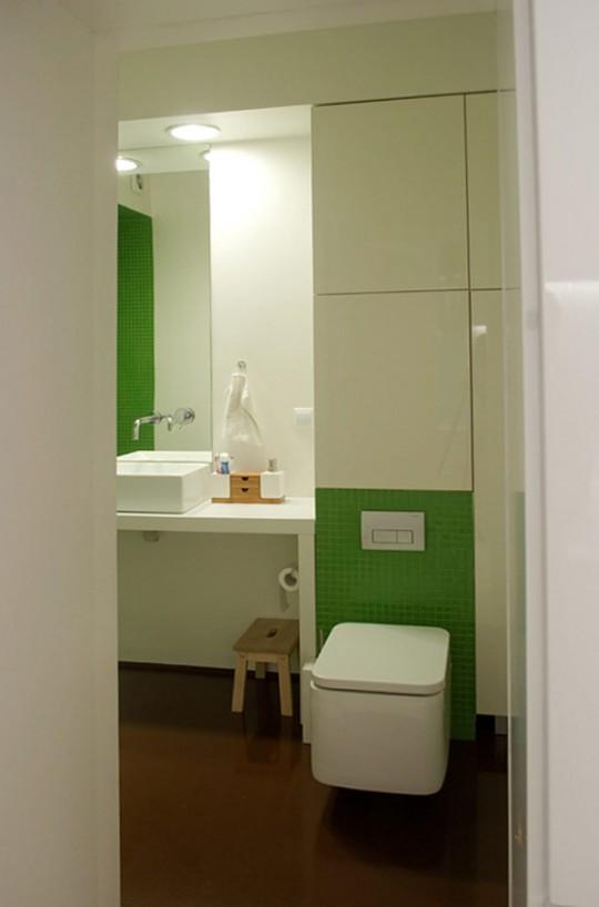 Appartement contemporain sous les combles : Salle de bain