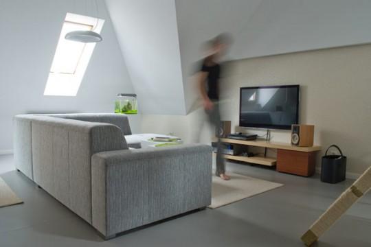 inspiration d co comment am nager un appartement sous les combles. Black Bedroom Furniture Sets. Home Design Ideas