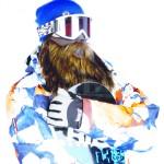 Masque de ski Beardski avec une barbe style Chewbacca