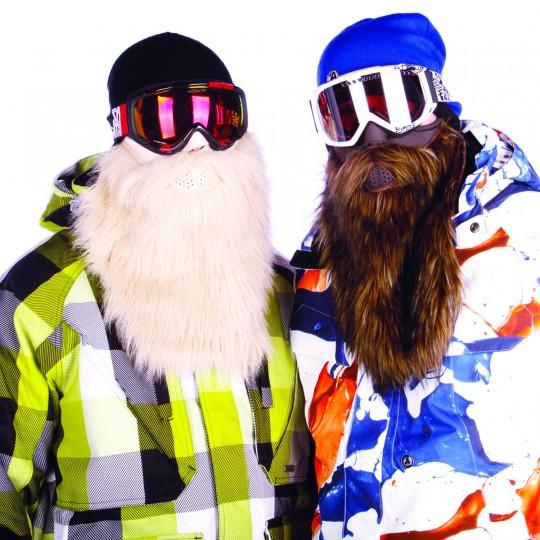 Masque de ski avec une (fausse) barbe Beardski