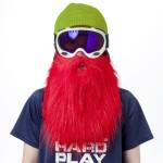 Masque de ski avec une barbe rouge Beardski
