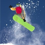 Beardski : Masque de snowboard avec une barbe rouge