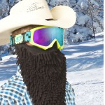 Masque de ski avec barbe : Beardski midnight rasta