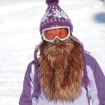 Beardski prospector, masque de ski avec une barbe marron