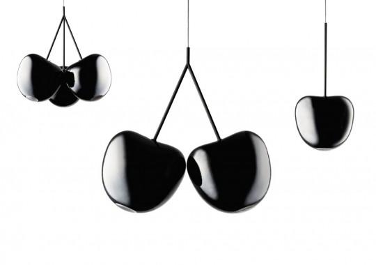 Black Cherry Lamp : Suspension Cerise Noire