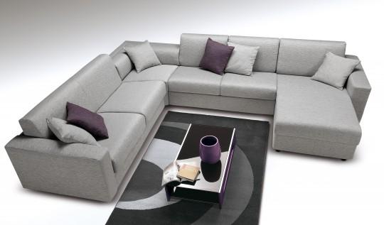 Canapé d'angle convertible design Roma