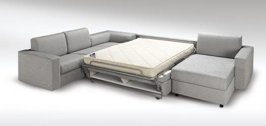 Canap d 39 angle convertible design avec un vrai lit - Canape lit avec vrai matelas ...