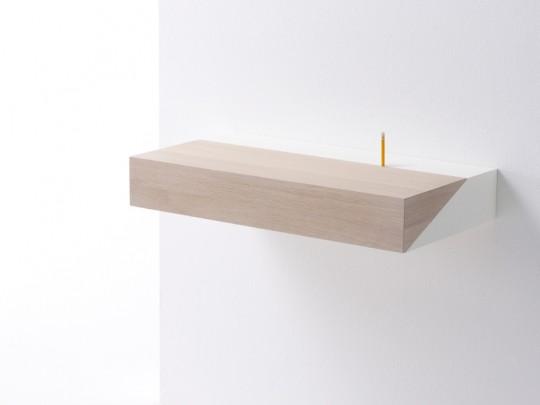 Bureau en bois et métal fixé au mur Deskbox