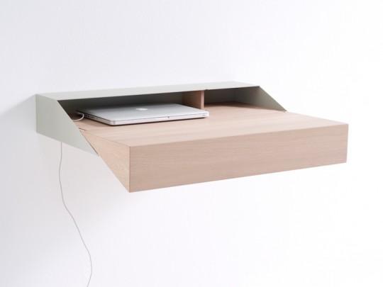 Bureau moderne en bois et métal Deskbox
