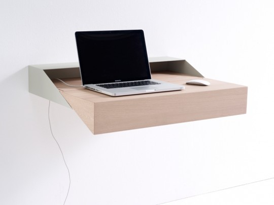 Bureau mural en bois et métal Deskbox
