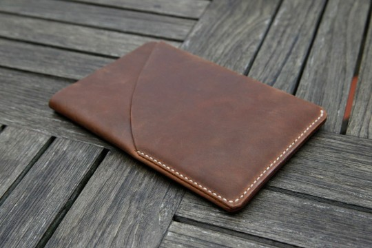 Housse en cuir marron pour iPad mini
