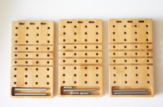 Modo : Organiseur de buteau modulable en bambou
