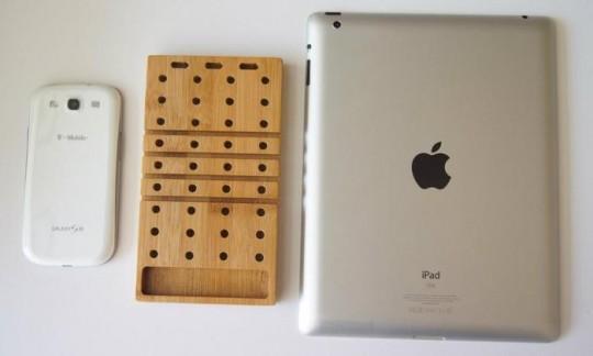 Modo, oragniseur de bureau en bambou pour iPhone et iPad