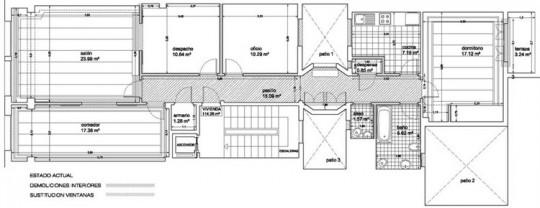 Plan de l'appartement La Coruna par Diaz y Diaz arquitectos