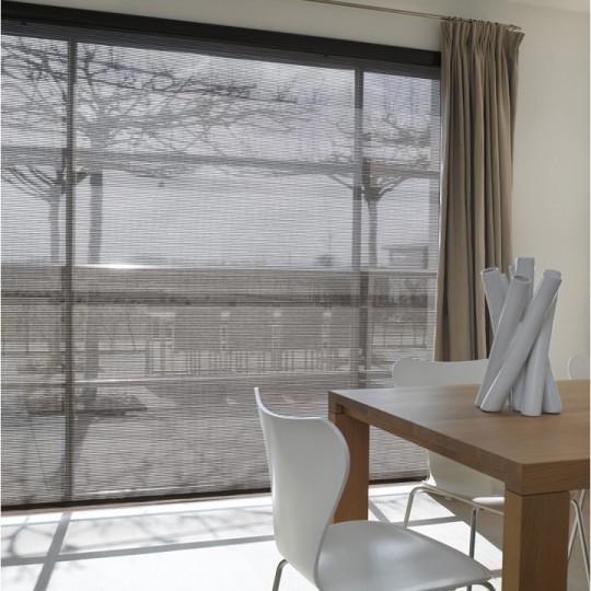 Store contemporain en tissu gris Luxaflex