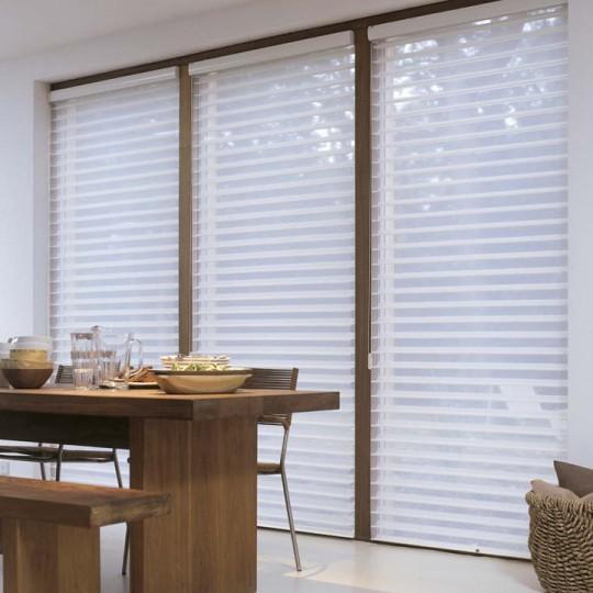 Store moderne blanc Luxaflex Silhouette