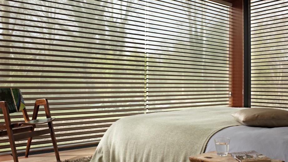 store design silhouette luxaflex dans une chambre. Black Bedroom Furniture Sets. Home Design Ideas