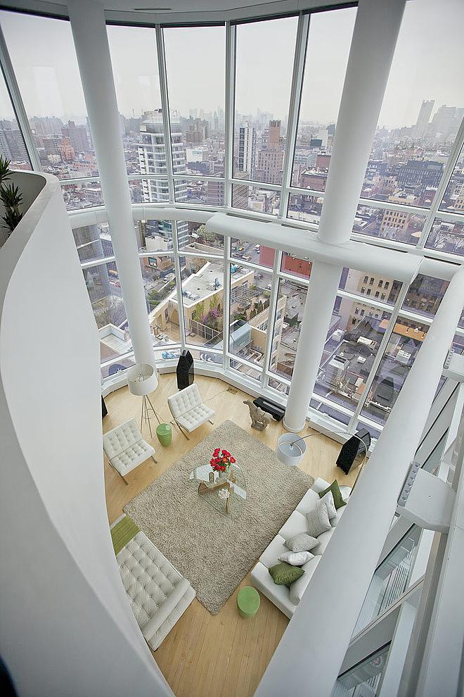 Duplex avec séjour cathédrale avec vue imprenable sur Manhattan (New-York)