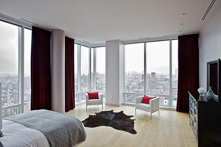 suite parentale avec vue sur manhattan new york. Black Bedroom Furniture Sets. Home Design Ideas