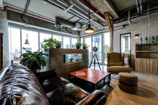 Les bureaux de Google à Tel Aviv avec une décoration contemporaine